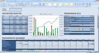 Excel regnskabsprogram fra Remy.dk